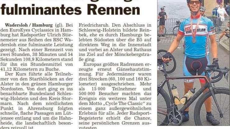 Stienemeier gelingt fulminates Rennen