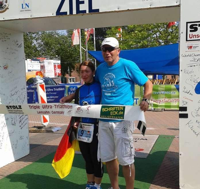 Claudia Jasperneite, RSC Wadersloh  finished bei der Triple-Ultra-Triathlon Weltmeisterschaft in Lensahn!