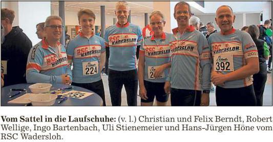 Radsportler erfolgreich beim Wadersloher Volkslauf